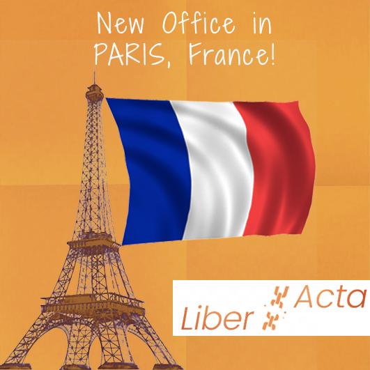 Nouveau bureau à Paris - LiberActa